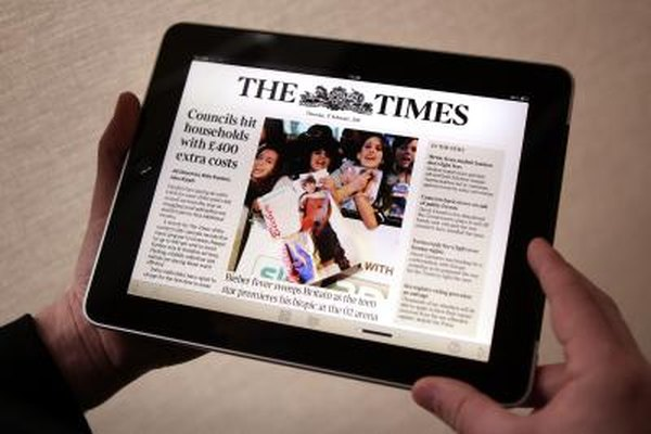 The iPad's display size is well-suited to electronic magazines and newspapers.