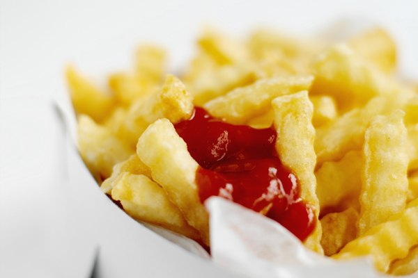 Chips and ketchup