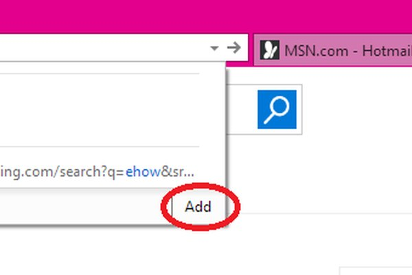 ie add search engine