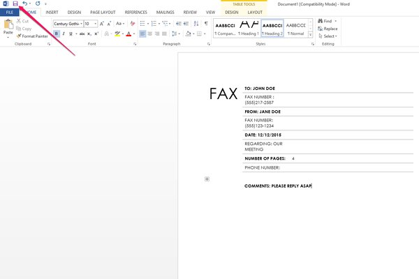 How Can I Get To The Blank Fax Coversheet Within Microsoft Word