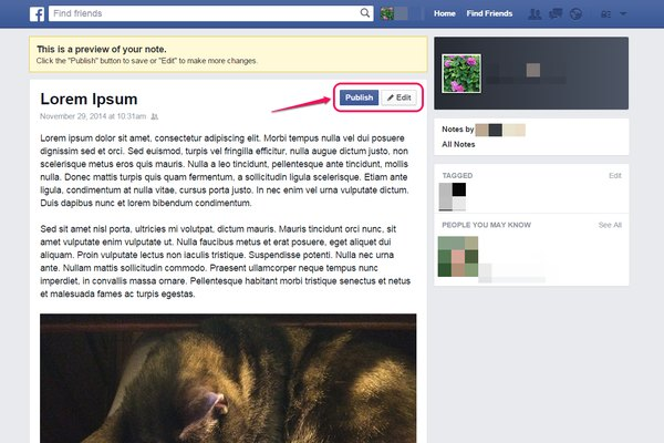 how to make blog in facebook