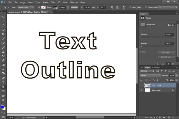 Convert text to a shape to add an outline.