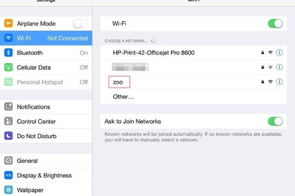 Choose Wi-Fi network name