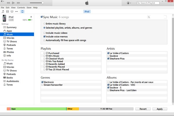 how to transfer music from itunes to external hard drive