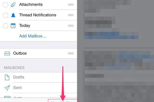 how to delete folders in yahoo mail on ipad