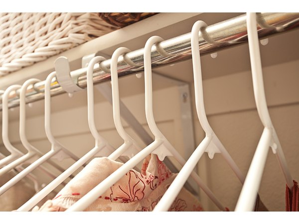 No wire hangers ever -- use sturdy, uniform hangers to support the weight of your clothing.