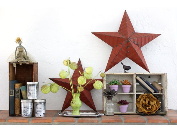 Flea market finds can add a touch of vintage charm.
