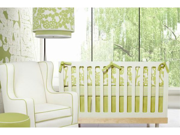 Clean colors and clean lines add to the serene nature of this nursery.
