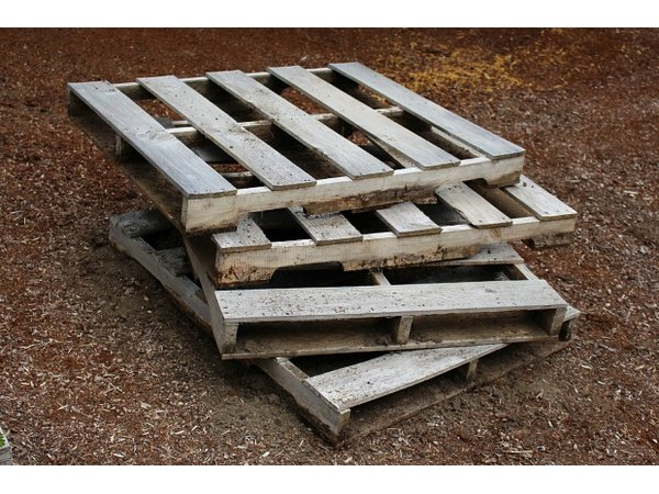 Wooden pallets can be purchased new or found behind big-box stores.