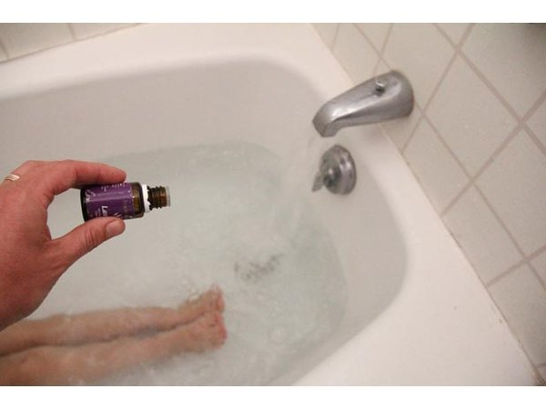 Add lavender oil to the bath for total relaxation.