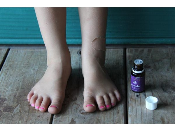 Lavender Oil may soothe skin.