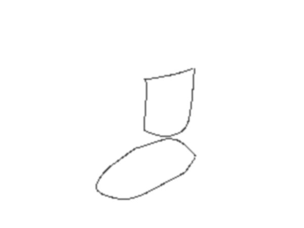how to draw a boot step by step