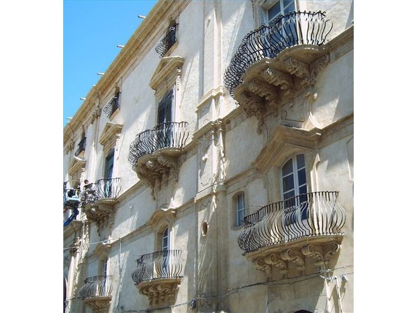 Sicily is famous for its ornate balconies and balustrades.