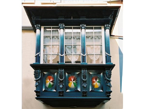 An unusual balcony balustrade in Germany