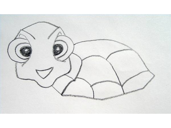Draw Squirt's shell.