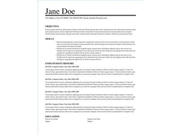 resume layout ideas  with pictures