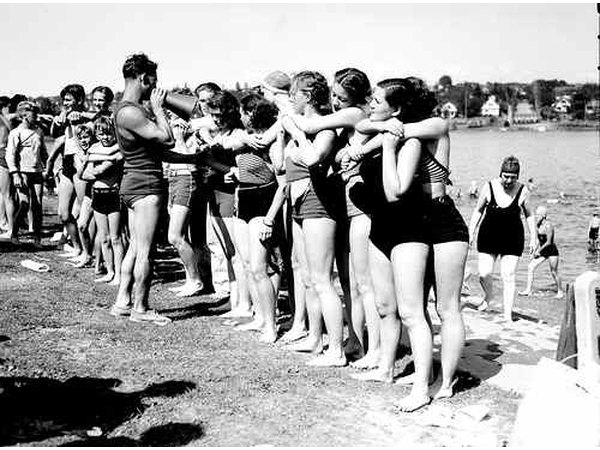 Your swimsuits will last much longer with salt water.  Seattle Municipal Archives/flickr