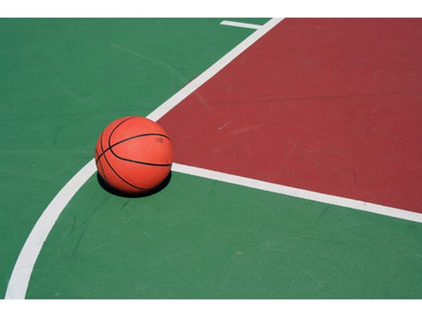 Free throw shooters must shoot in the area where this basketball lies.