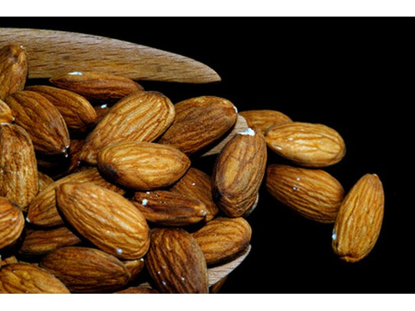 Almonds are a good source of healthy fats.