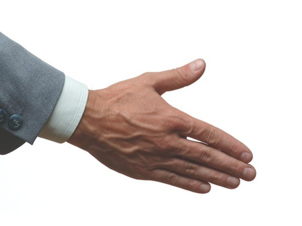 A handshake can call attention to poorly groomed hands.