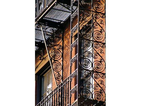 Sometimes an entire porch was made from wrought iron.