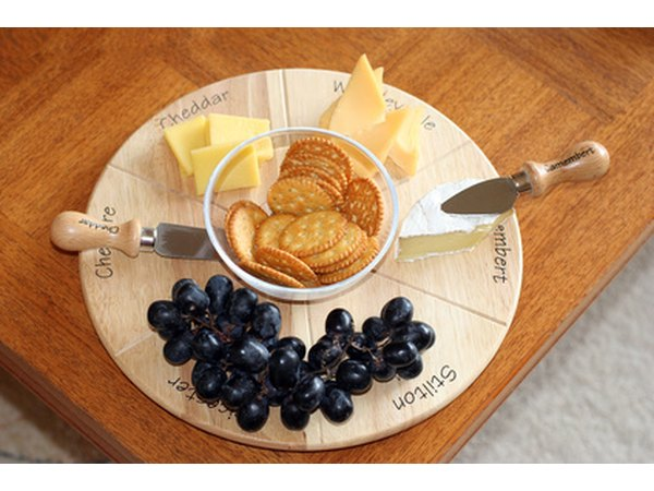 A fruit and cheese tray is a classic appetizer.