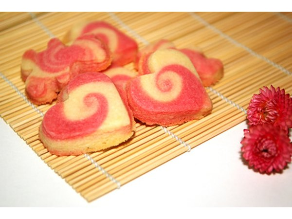 You can also decorate cookies by dying a portion of the dough and swirling it before baking.