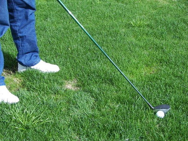 A golf club gives adequate distance reach.