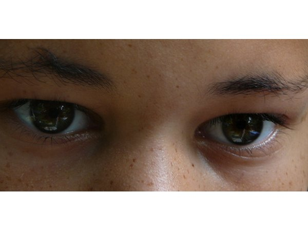 Children don't have the protective yellowing effect in their eyes.