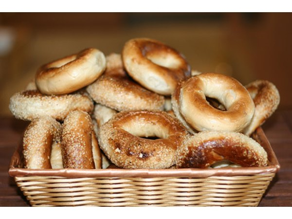 A basket of bagels will be a hit in the teacher's lunch room.