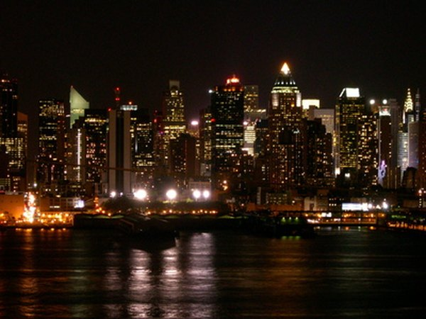 Cruise the Hudson River at night with Manhattan by Sail.