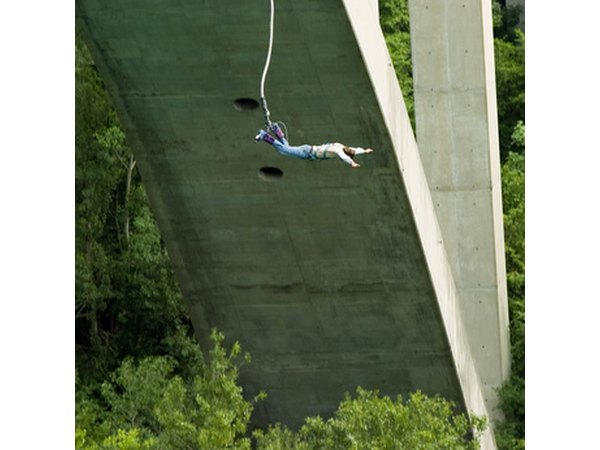 Bungee jumping is one example of an adventure sport that gives participants a rush.