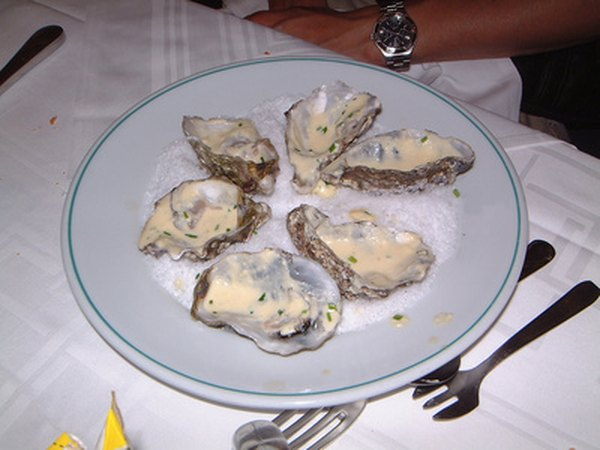 Oysters are rich in zinc.