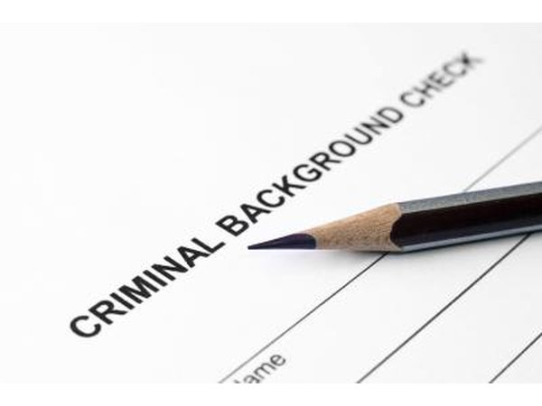 You will need to go through a background check before being hired for a driving position.