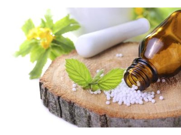 Medicinal herbs and bottle