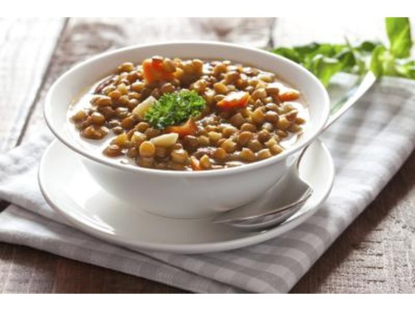 Lentils are packed with fiber and protein.