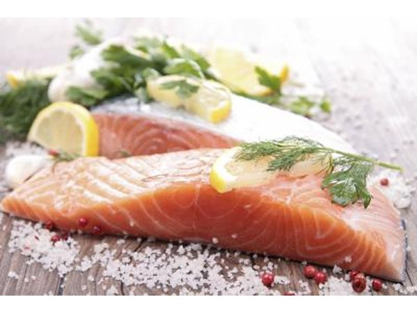 Salmon with herbs and spices