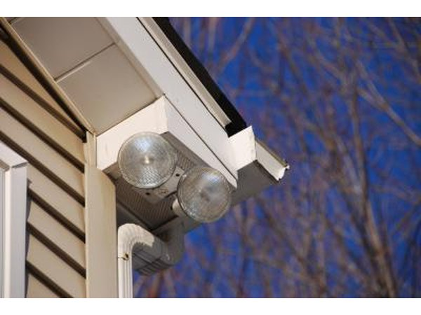 Security lights attached to home
