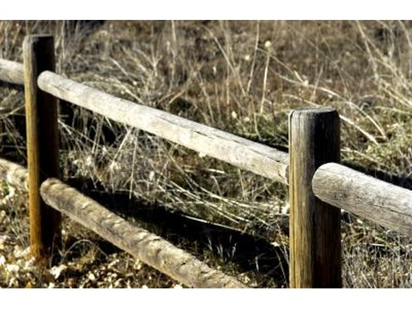 Rustic ranch style fence