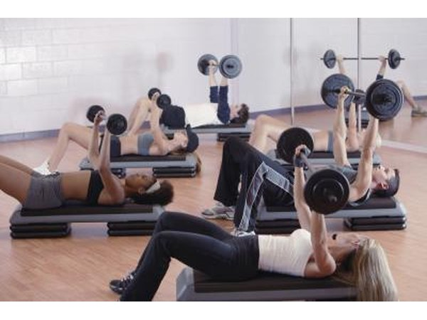 Exercise class using weights