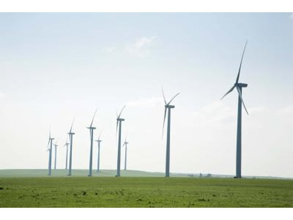 Wind farms are capable of generating a lot of electricity.