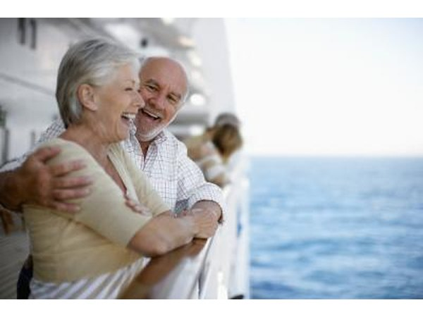 Mature couple on a cruise
