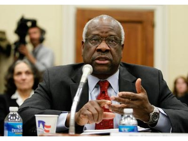 Supreme Court Justice Clarence Thomas is in an interracial marriage.