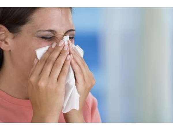 Chemical allergies may cause a runny nose.