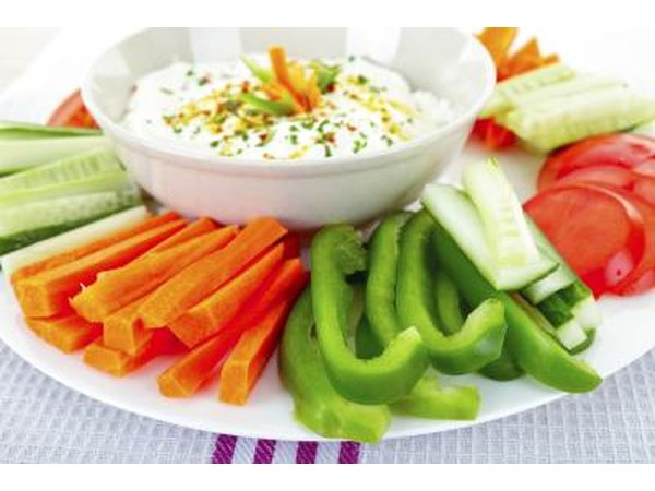 veggie sticks with ranch dip is one appetizer idea