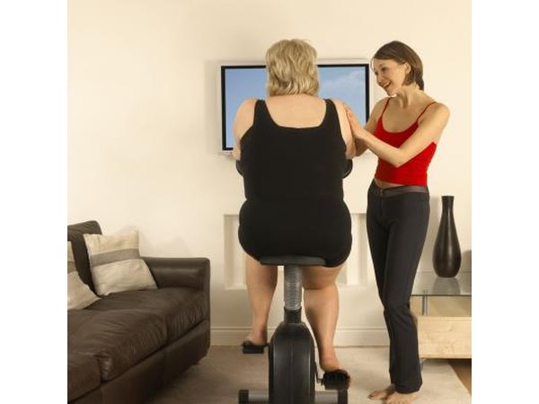 A personal trainer will help keep her in shape for later years.