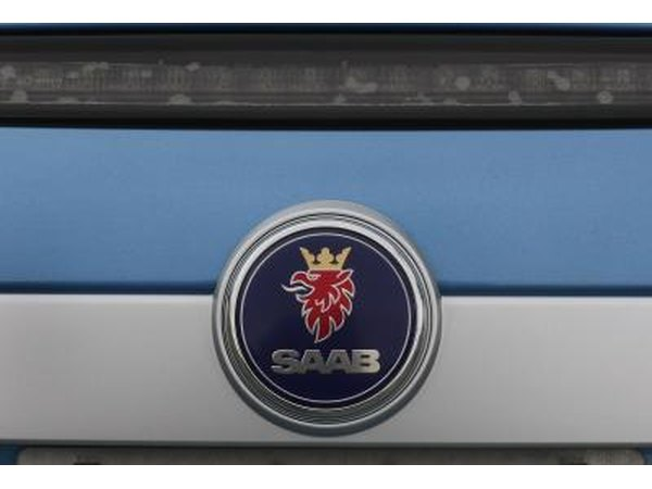Saab logo on car