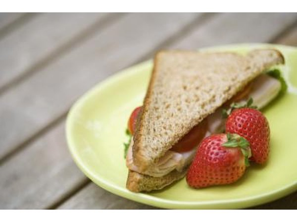 Lowfat meal-turkey sandwich.