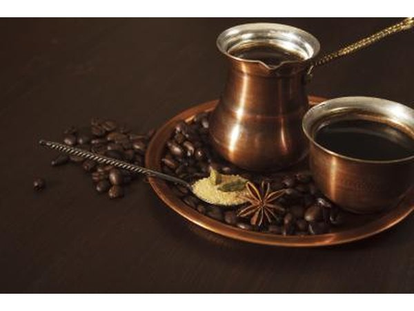 A Copper coffee set