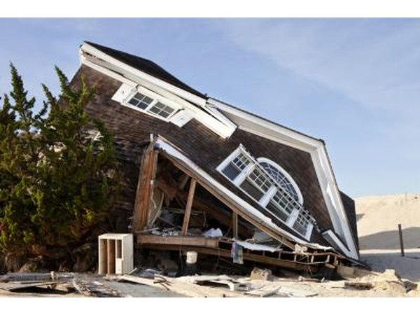 hurricanes can topple homes